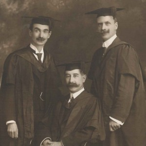 Photograph of W.H. Gilmour, Richard Edwards and T. Mansell, dentists