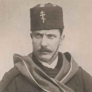 Colocci, in military dress in the Bulgarian war of 1885
