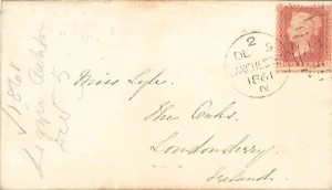 image: Dec 5 1861 letter to Emily Lyle (envelope)