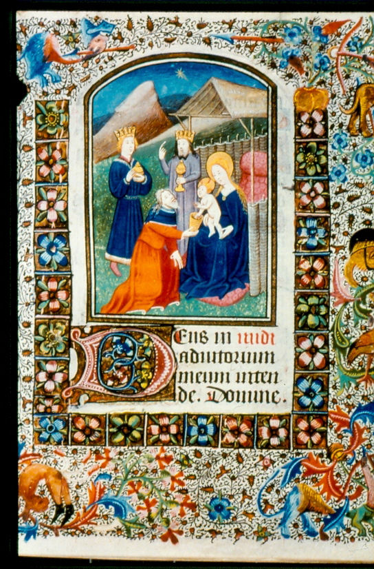 The visit of the Magi from LUL MS.F.2.19