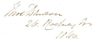 Signature of Thomas Dawson in SPEC G35.11