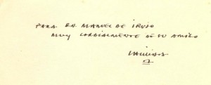 SPEC IRUJO C.15 – Eduardo Chillida's dedication