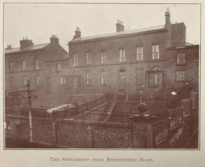 Exterior of Victoria Settlement on Netherfield Road, c1913