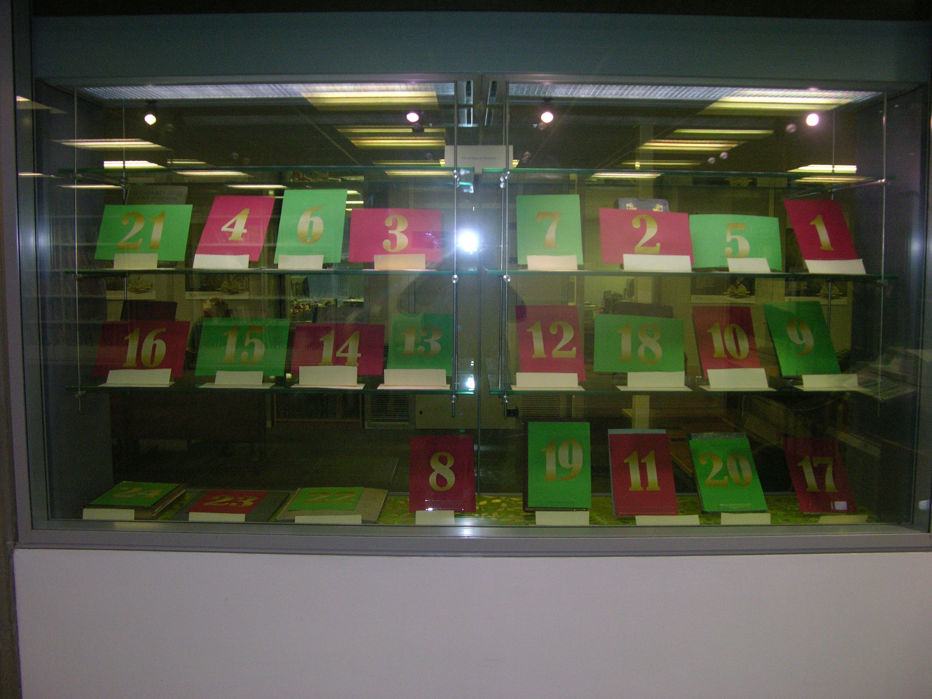 24 Days of Christmas Display Cases 1