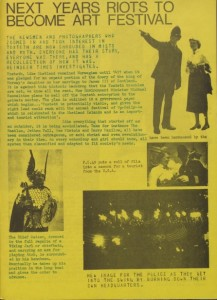 Liverpool zine Reindeer Times satirising the response to the 1981 riots