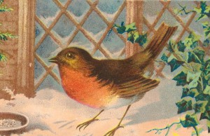 19th century Christmas card from LUL Album 3/4