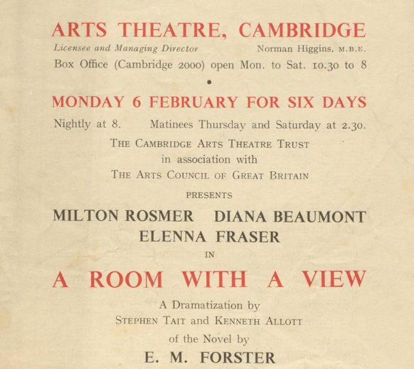 University Archive D1073/1/2/4. Flyer for 1950 production.