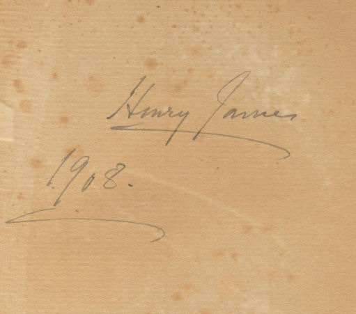 SPEC Zaina E.51. Signature of Henry James.
