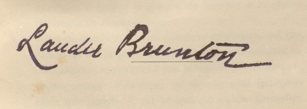 Y88.3.324 Lauder Brunton's name stamp