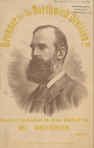 Propaganda card from the Northwich by-election, 1887