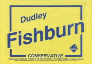 Conservative Party window poster, Kensington by-election, 1988 [D709/3/5/2/10]