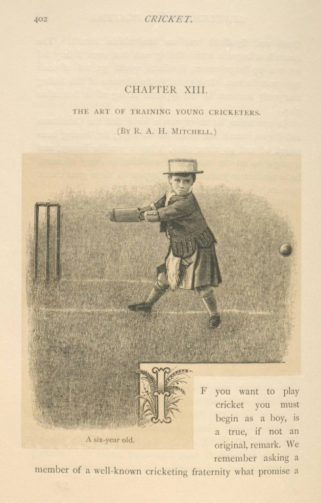 A page from the Cricket volume in The Badminton Library of Sports and Pastimes series