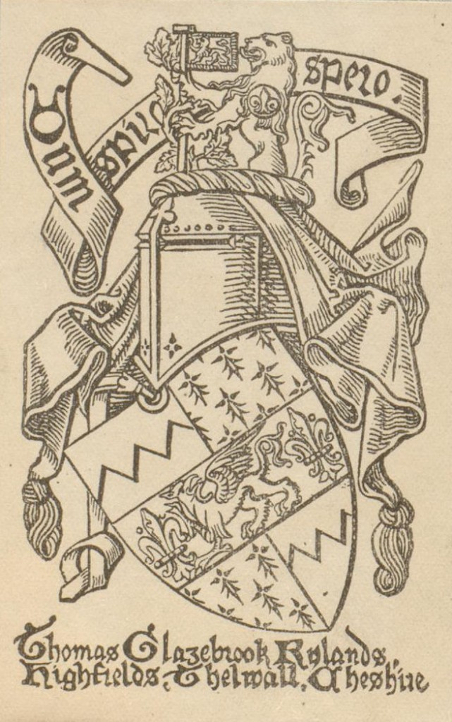 Rylands bookplate