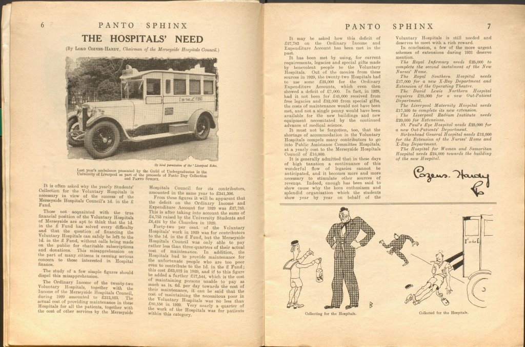 Article from 1931 Pantosfinx. Ref: R/LF379.5.P19.U55