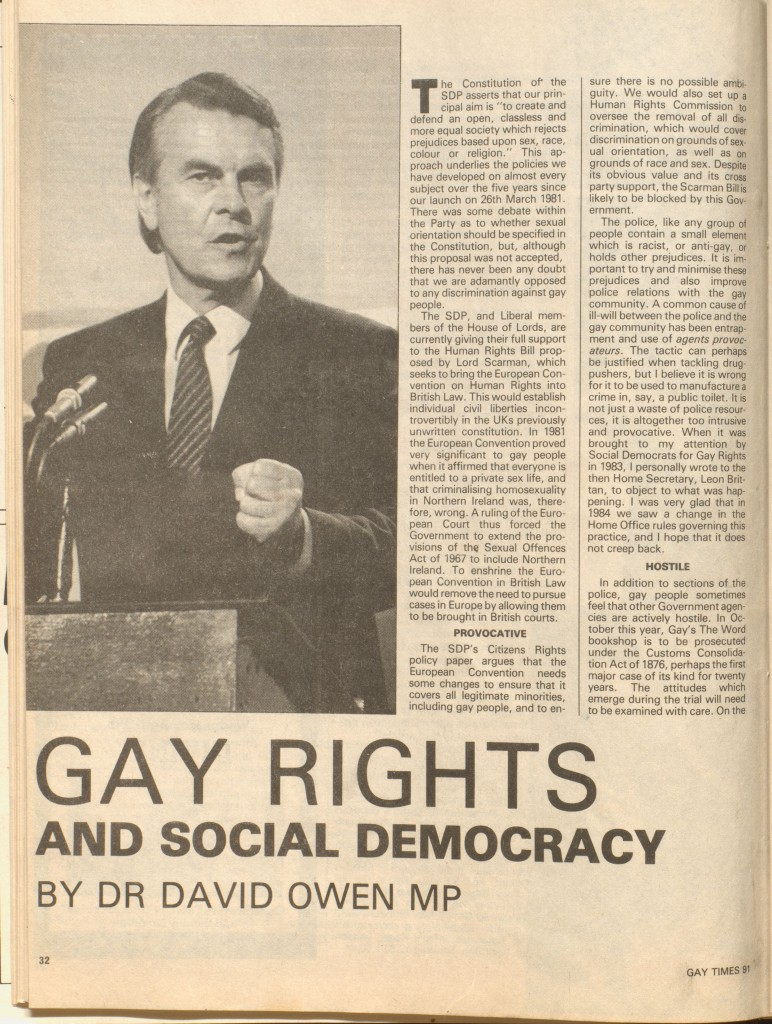 D709/3/18/6/34, Gay Times, Issue ... p. 32.