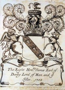 Bookplate of the 10th Earl of Derby.