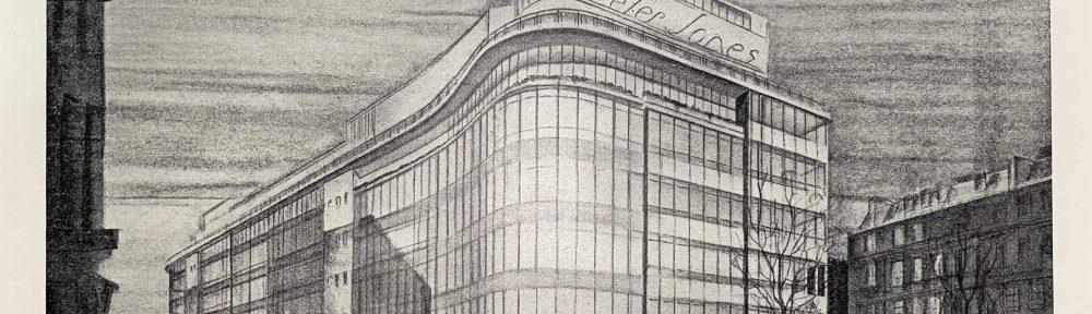 Print of the Peter Jones building.