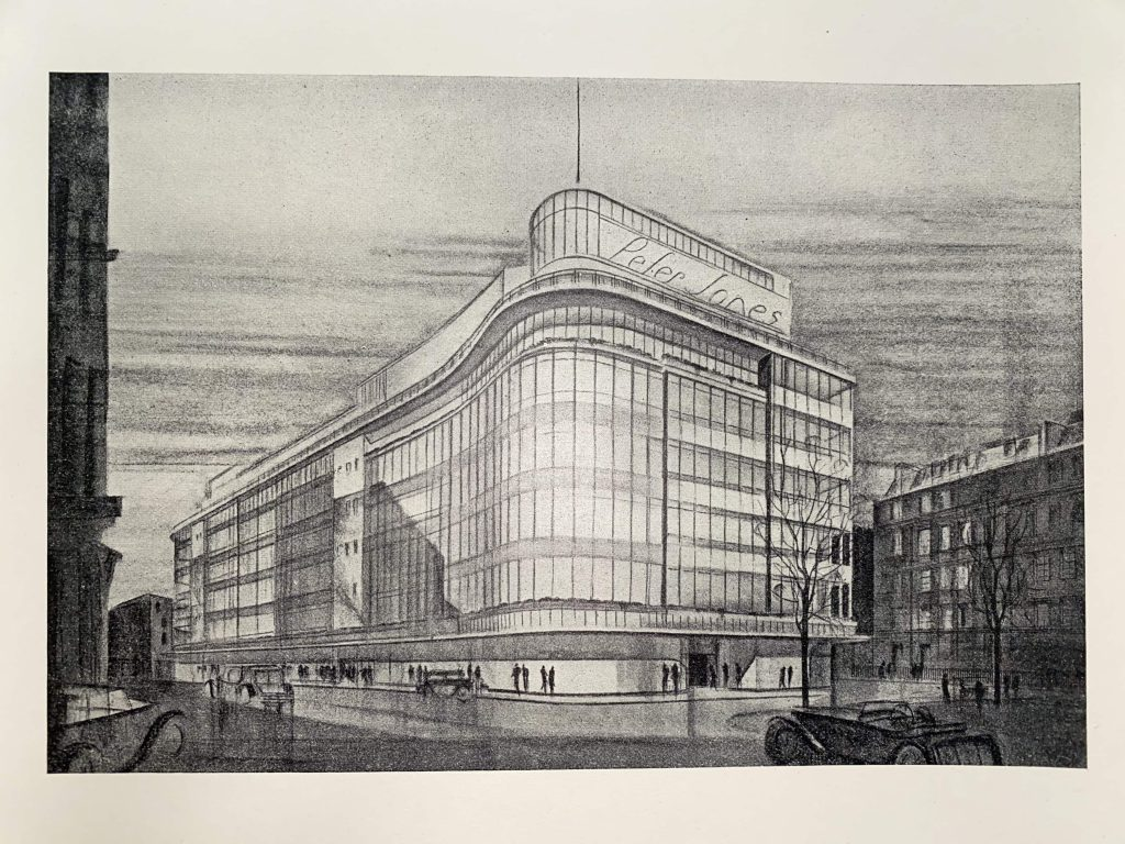 Print of the Peter Jones building.