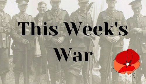 This Week's War logo showing soldiers and poppies