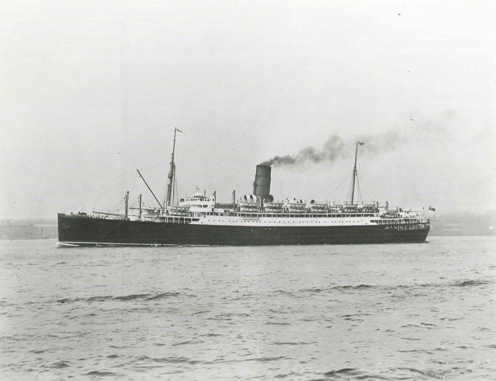 Lancastria at sea