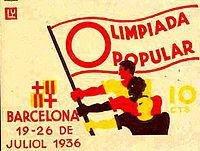 Poster/leaflet for the Olimpíada Popular,