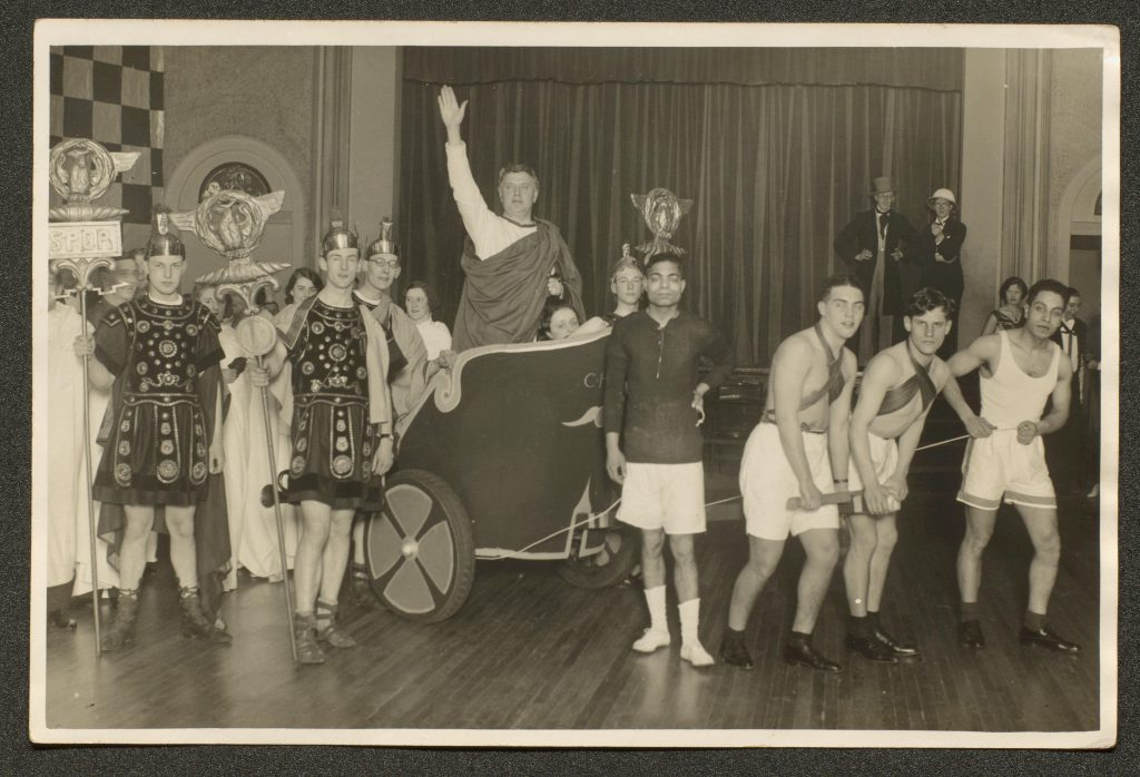 Photograph of Reilly's fancy dress performance