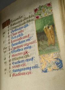 image of November calendar of saints and labours