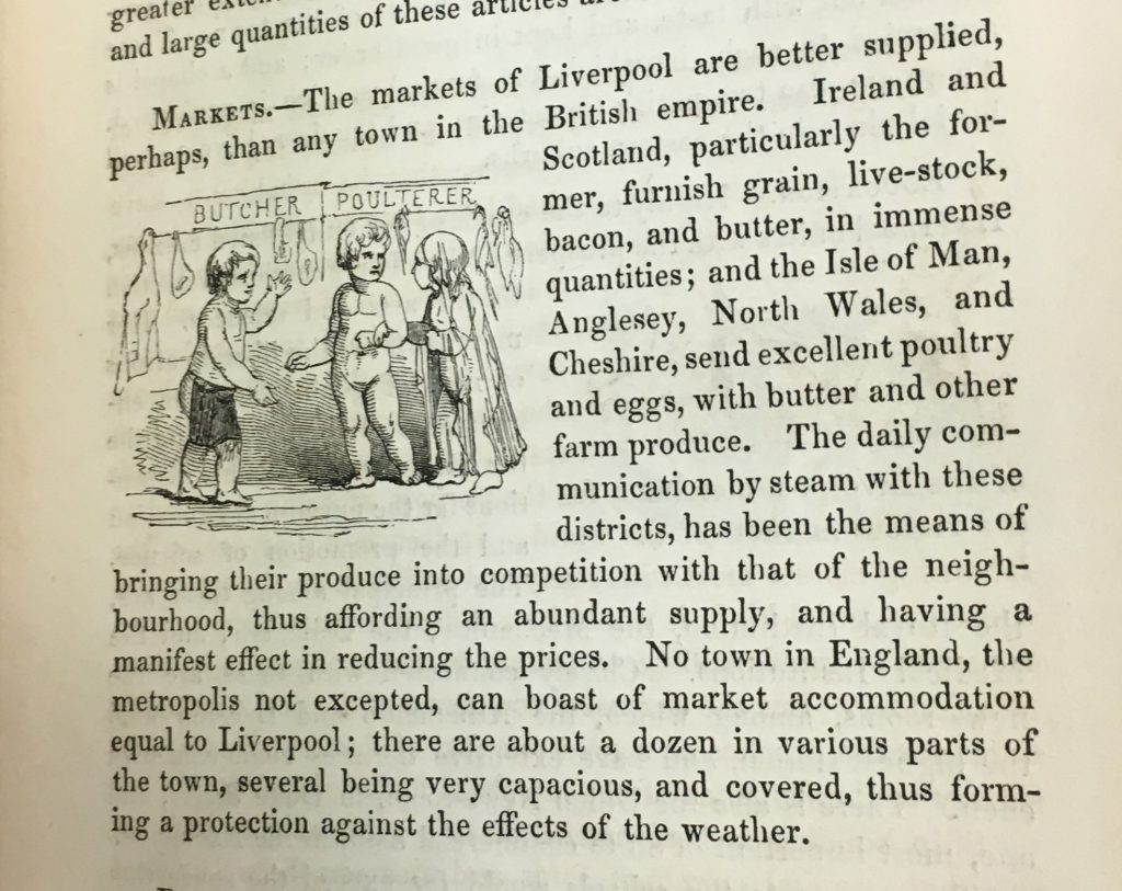 Description of markets in Tour of the docks in The picturesque handbook to Liverpool