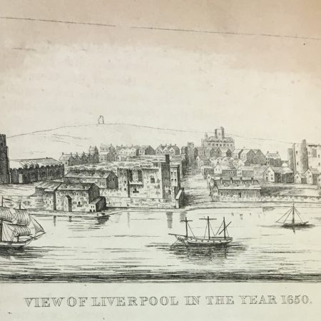 View of Liverpool in 1650 from the s The picturesque handbook to Liverpool