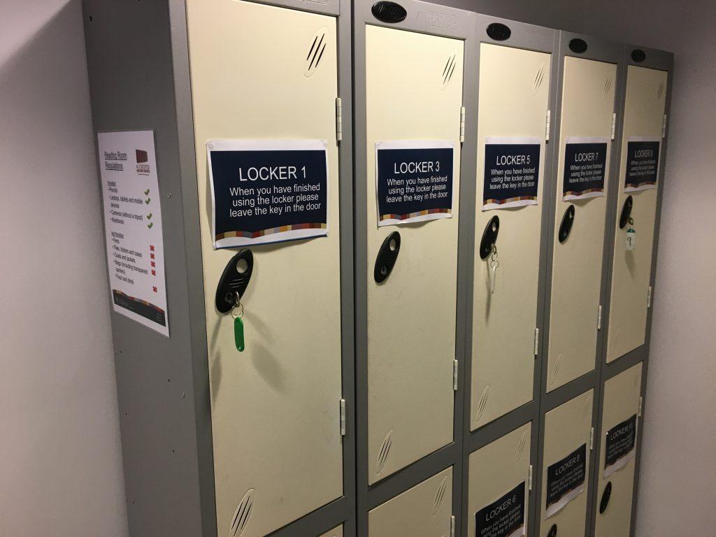 Locker area at SCA