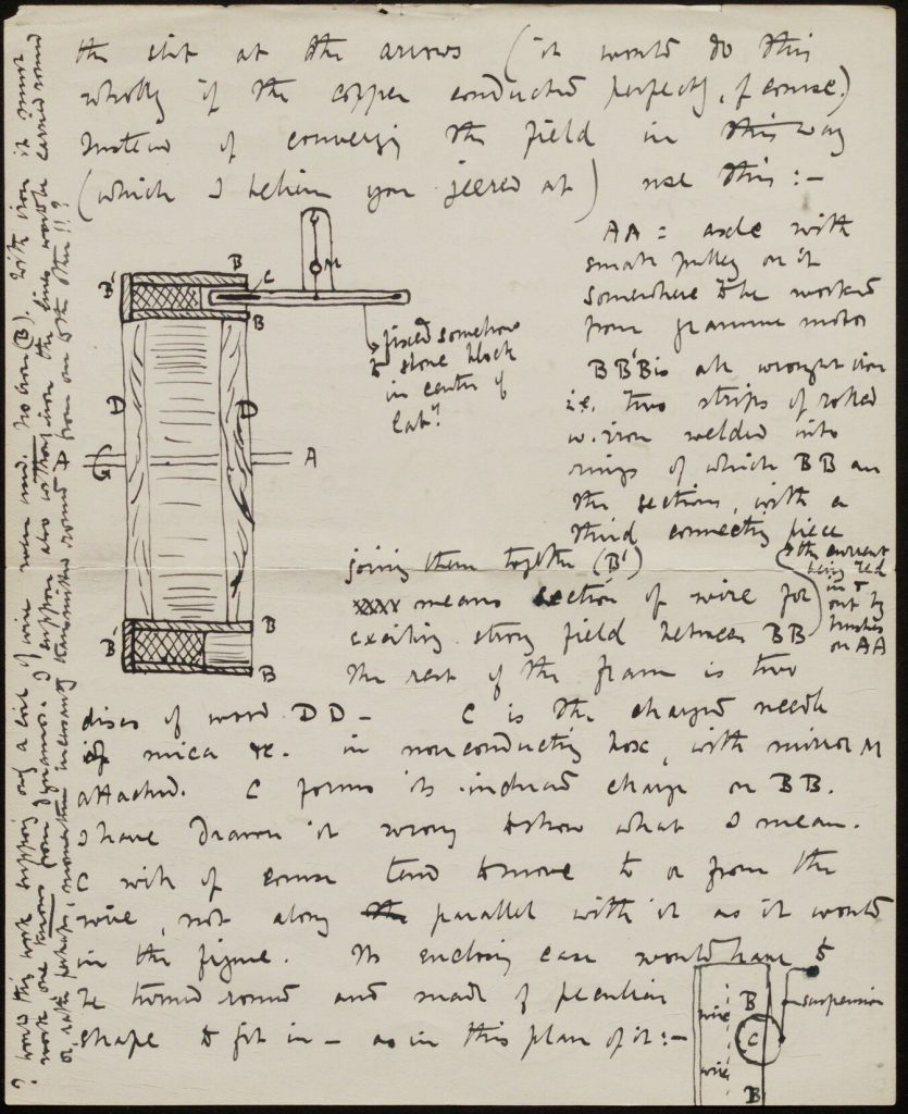 Showing notes and diagram in black ink by Lodge