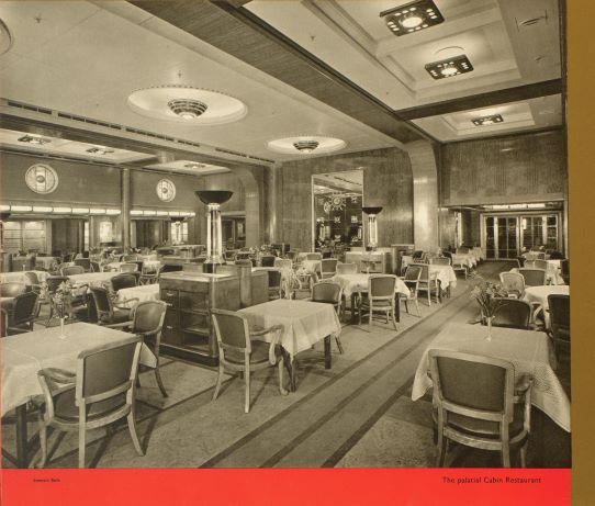 Palatial Cabin Restaurant, Mauretania II