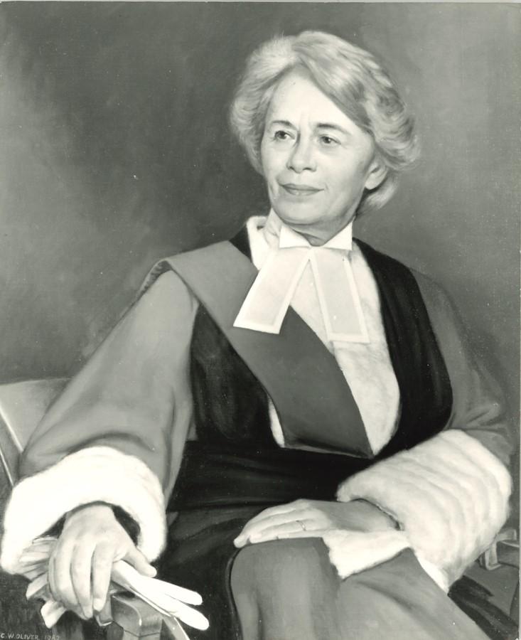 Dame Rose Heilbron in formal dress