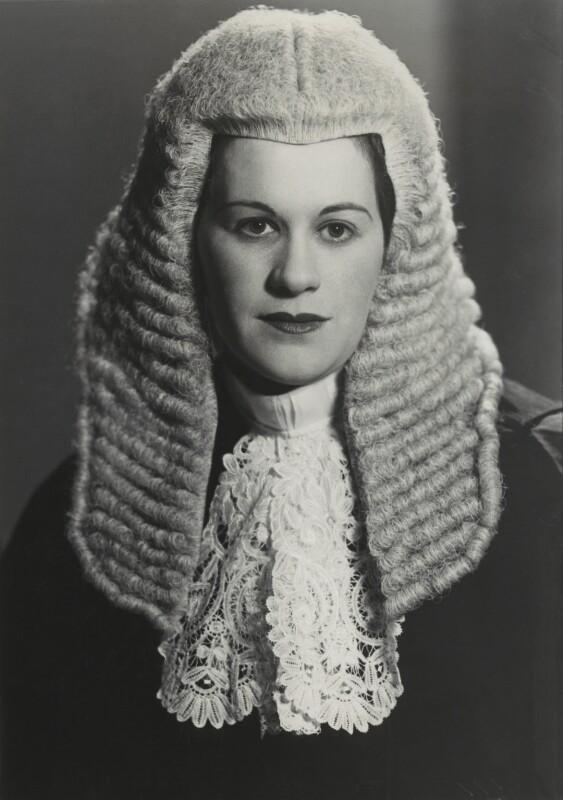 Dame Rose Heilbron in legal headress