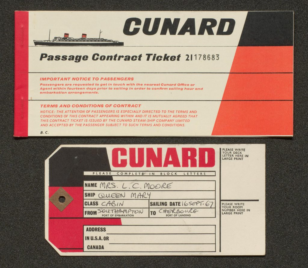 Passenger ticket and luggage label